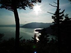 落日の北湖