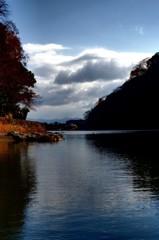秋終の保津峡
