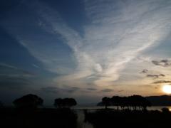 夕焼けの青空