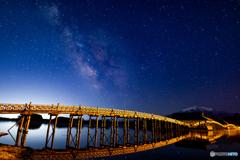 夜明けを待つ津軽富士見湖