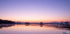 夜明けの鶴の舞橋