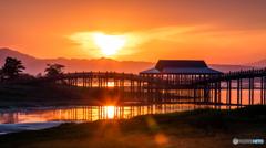 夜明けの津軽富士見湖