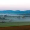 朝靄の美瑛