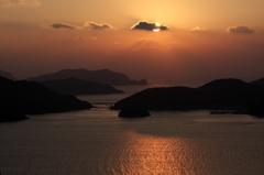 島の夕暮れ
