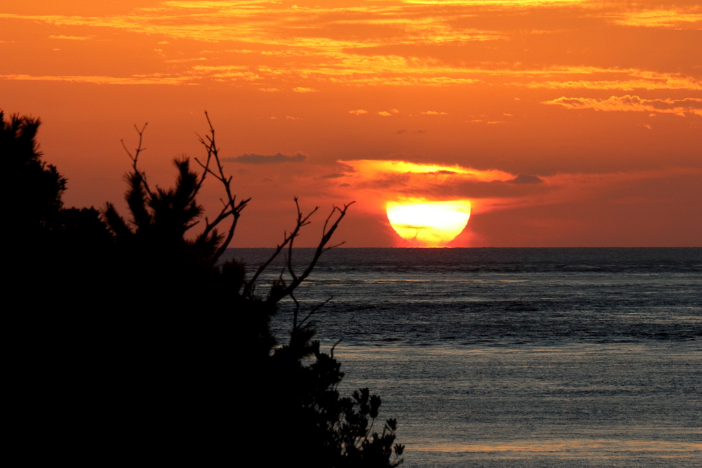 十月最初の夕陽 ⅲ