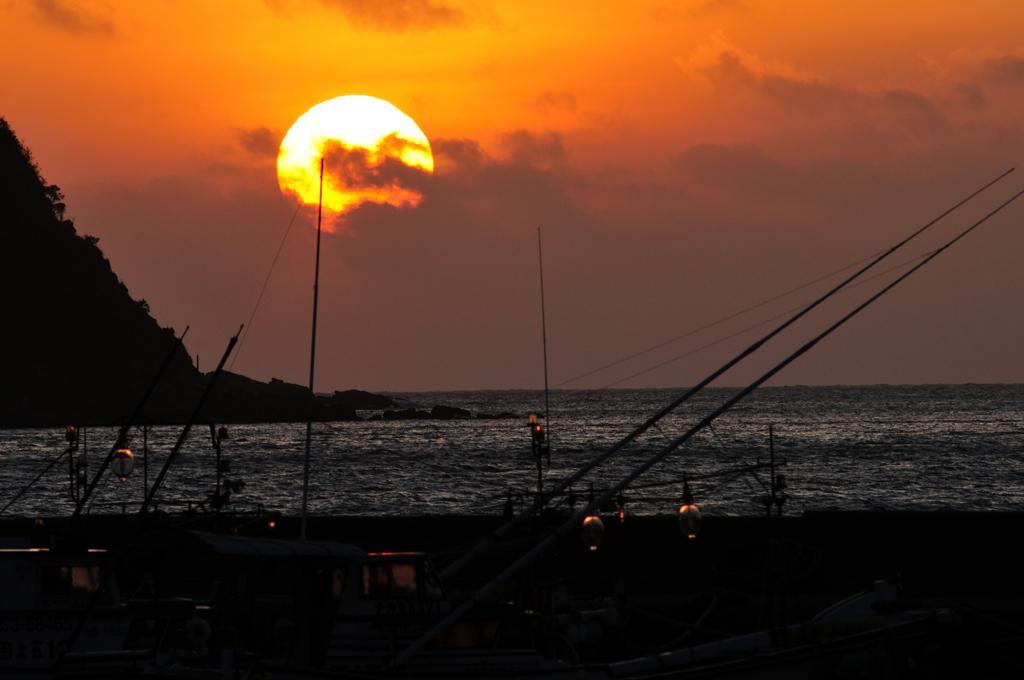 漁村の落ち日