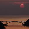 彼岸の夕陽に染まる海Ⅴ