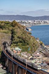 小田原の空と海と鉄道と①