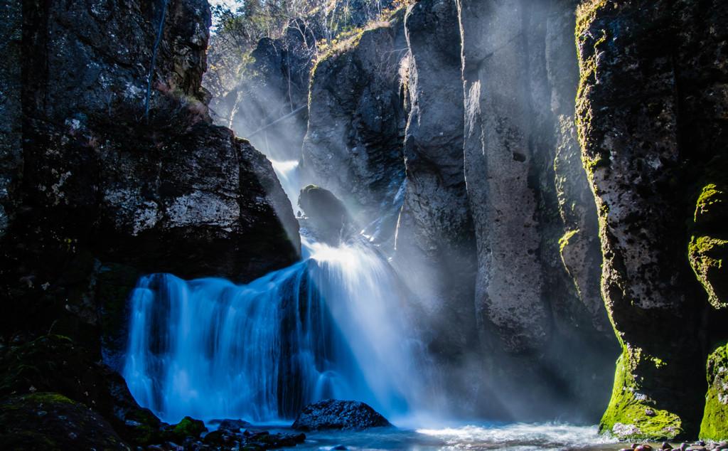 光と水のシャワー