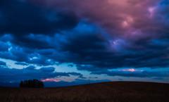 曇天の夕焼け