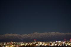 夜の立山連峰