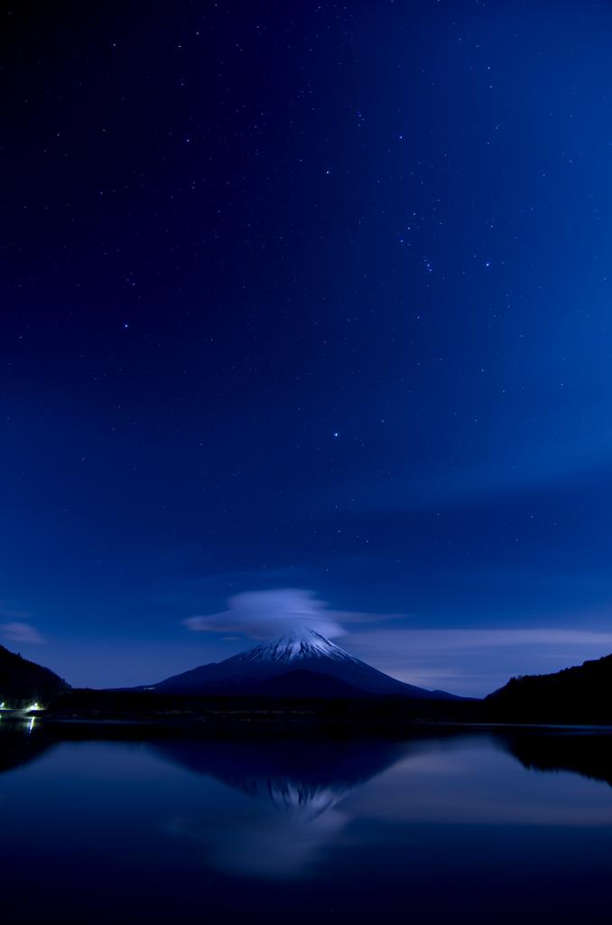富士の星空