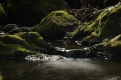 水流の滑り落ちる先…