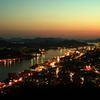 尾道の夕景 町の明かりの煌めき