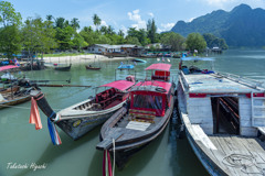 南タイ港風景