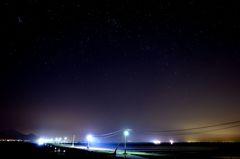 空、星、海の夜
