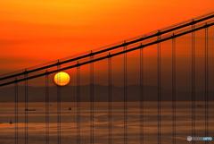 瀬戸内の静かな夕日