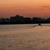 京浜島の夕暮どき