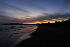 船越海岸の夕雲 残光