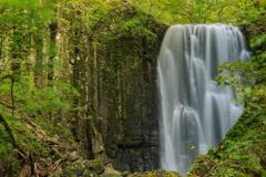 亀田不動の滝 柱状節理
