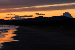 船越海岸の夕雲 余光 Ⅰ