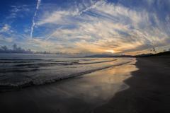 船越海岸の夕雲 Ⅶ