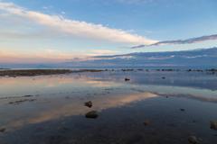 七月の鵜ノ崎 交差する夕雲