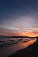 船越海岸の夕雲 空と海