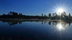 小泉潟の朝日