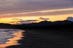 船越海岸の夕雲 余光 Ⅱ