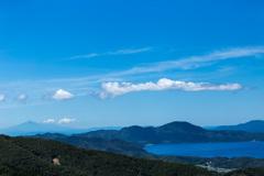 田沢湖と鳥海山