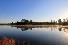 小泉潟の朝明け