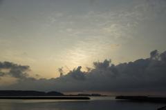 椿漁港の朝