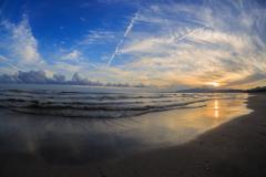 船越海岸の夕雲 Ⅱ