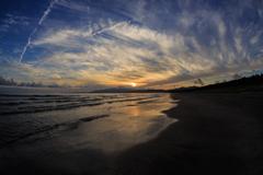 船越海岸の夕雲 Ⅰ