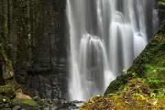 亀田不動の滝 素白と玄黒