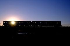 日の入りの富良野線