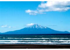 日本海と利尻富士
