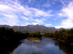 冠雪前の芦別岳