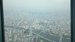 浅草寺見える、ドームもあるよ