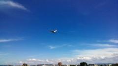 自衛隊の飛行機。