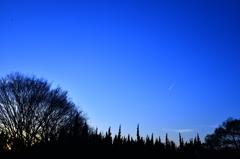 夕方の流れ星☆