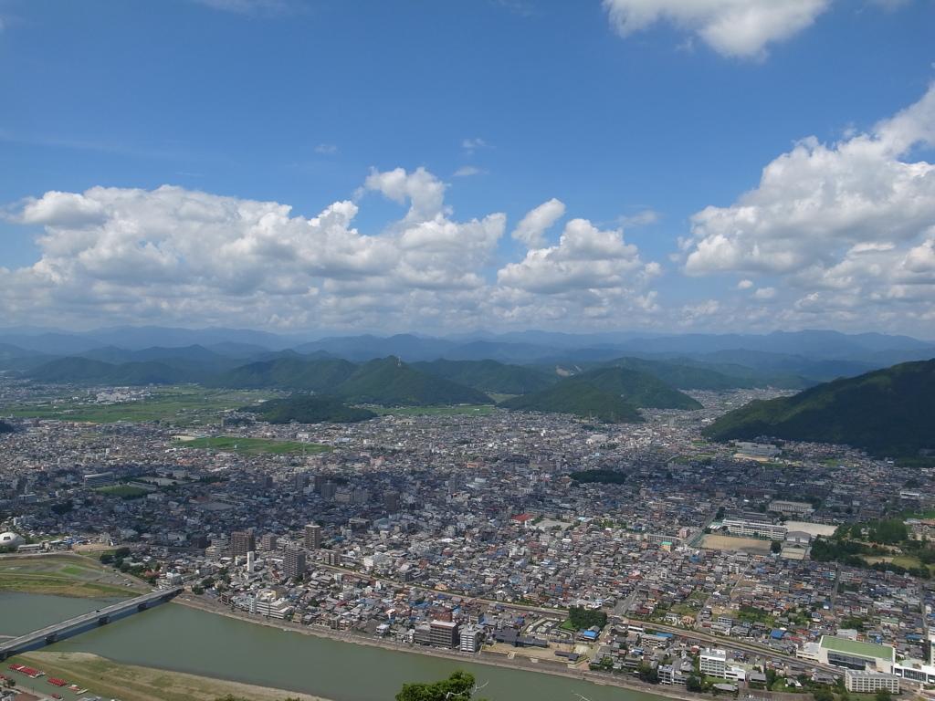 岐阜市街と長良川