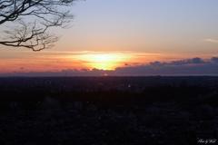 卯辰山からの夕陽