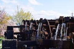 春の五連水車