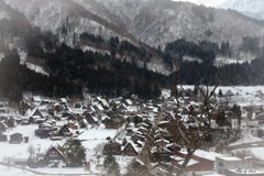 雪の少ない白川郷