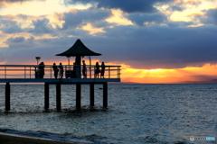 フキサビーチの夕日 3