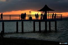 フキサビーチの夕日 2