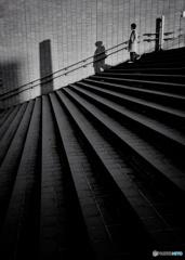 大階段の影