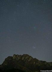 妙義を駆ける46P/ウィルタネン彗星